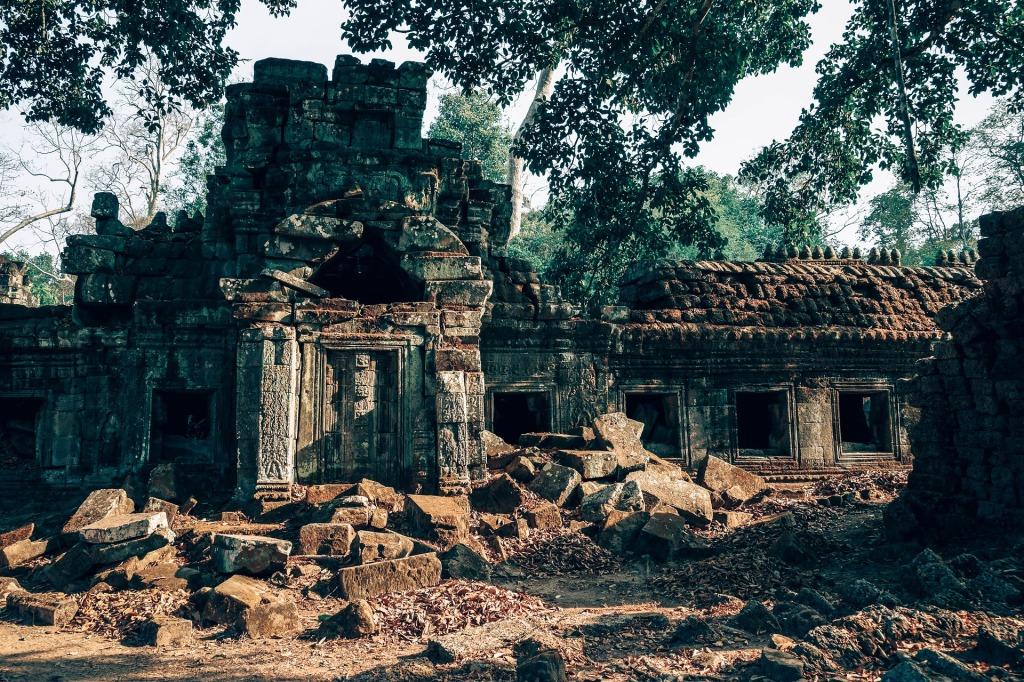 Ruines d'Angkor. Par Igor Ovsyannikov / https://pixabay.com/fr/photos/angkor-antique-arch%C3%A9ologie-2929642/
