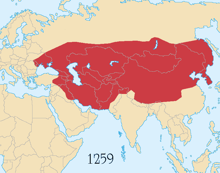 Empire Mongol - 1259. Par Astrokey44 / https://commons.wikimedia.org/wiki/File:Mongol_Empire_map_1259.png